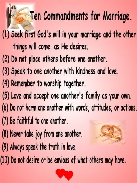 Ten commitment of love