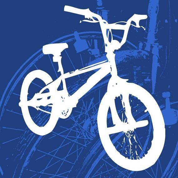 Childrens Wall Art BMX bike
