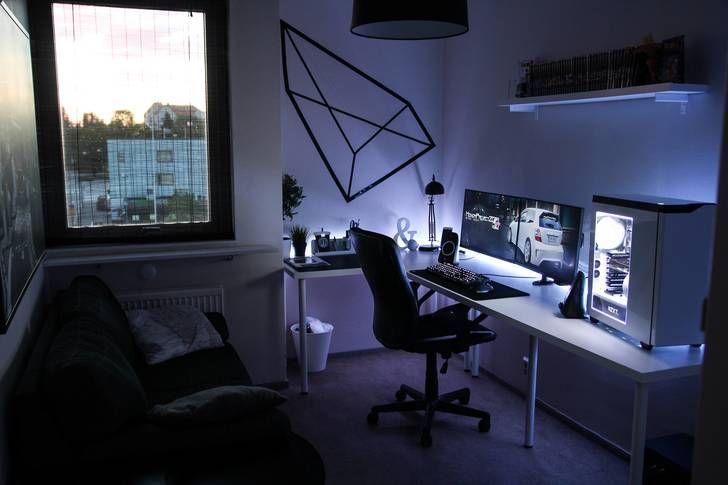 Dormitorio Gamer ~ 17 mejores ideas sobre Habitación Gamer en Pinterest Dormitorio de gamer, Salas de juego y