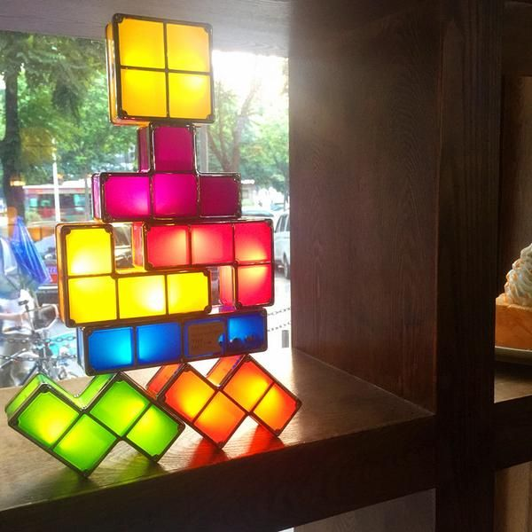 Upgraded Version Most Fun Tetris Stackable Led Lights Led Lights Coffee Shop Interior Design Led Table Lamp