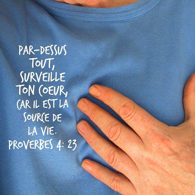 Proverbes 4: 23