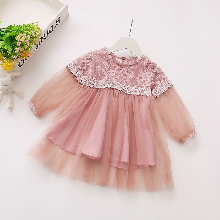 Girl Dress 2017 New Spring and Summer Casual Style Princess Lace Dress  Baby Girl Clothes for Girls Clothes Dress 0-3Y HW1012 #Affiliate