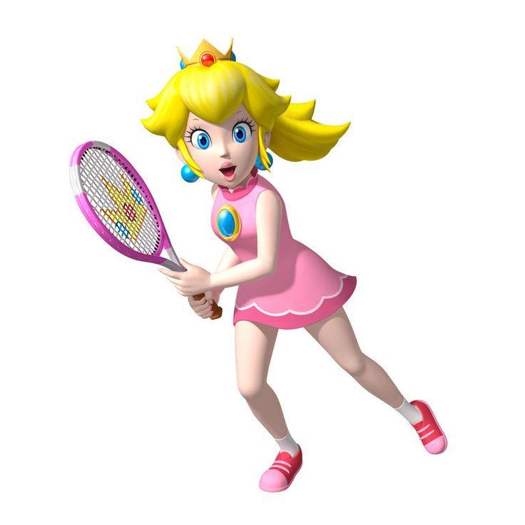 mario tennis open princess peach by superfrency on deviantART