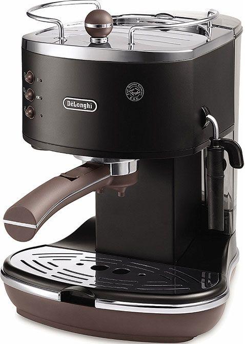 DeLonghi Icona Vintage ECOV 311.BK Onyx Black  DeLonghi Icona ECOV311BK Onyx Black: Vintage pompdruk espresso apparaat met stoompijpje De DeLonghi Icona ECOV311BK is een zwarte pompdruk espresso apparaat. Met dit apparaat geniet jij van de heerlijke koffievariaties metwaaronder ook een heerlijke cappuccino. De ECOV311 is namelijk voorzien van een stoompijpje waarmee jij een luchtige schuim maakt! De Icona heeft een roestvrijstalen boiler en een pompdruk van maar liefst 15 bar. Deze pompdruk…