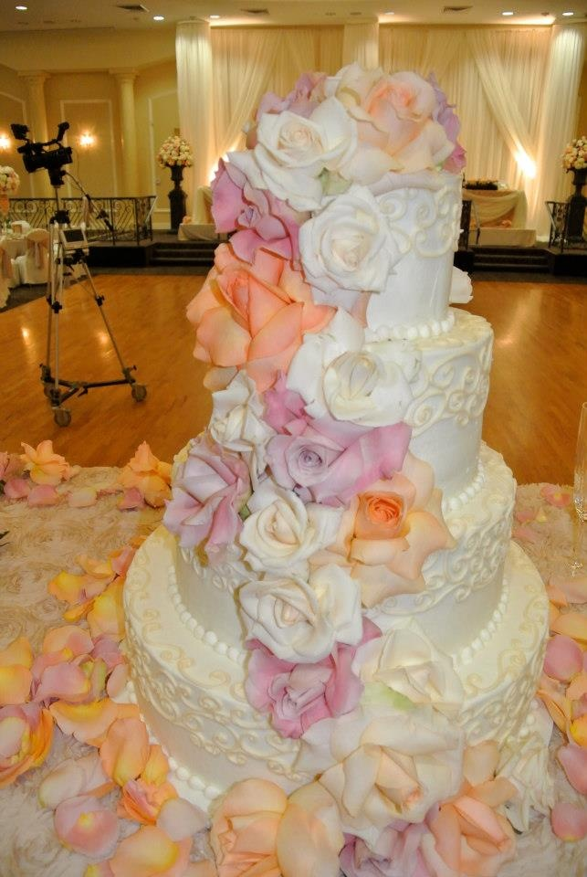 Pastel Colored Wedding Cake Wedding Pinterest Orange Flowers Other And