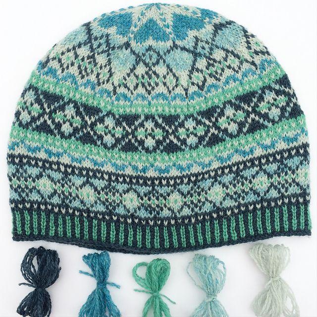 Ravelry: I ﹤3 Color Hat pattern by Lynn Manderville