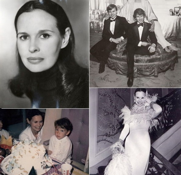 Mom and kids - Anderson Cooper & Mother Gloria Vanderbilt