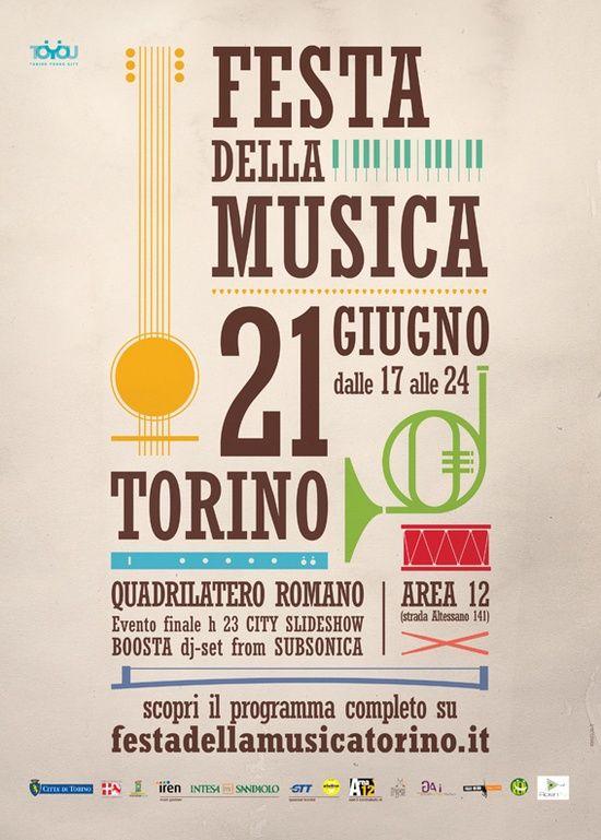 Festa della musica - Torino. (afiches de conciertos)