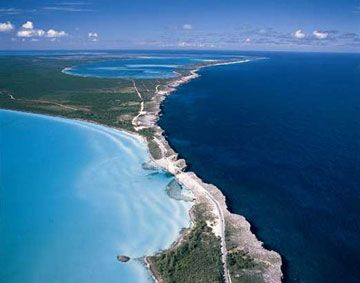 bahamas360.jpg (360×283) This is where the Atlantic meets the Caribbean Sea in Eleuthera Bahamas