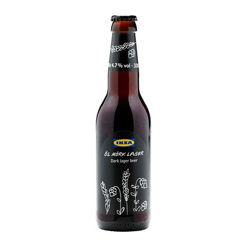IKEA recently introduced a beer for sale at their United Kingdom retail stores, a dark lager called Öl Mörk Lager.