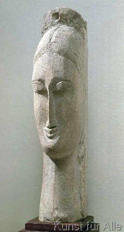 Amedeo Modigliani - Head of a Woman