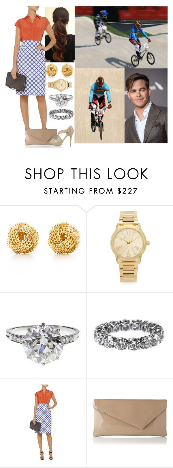 """Supporting Team Belgium on Day 13 of the London Olympics"" by hanaofbelgium ❤ liked on Polyvore featuring Tiffany & Co., Michael Kors, Boucheron, Jonathan Saunders, L.K.Bennett, women's clothing, women, female, woman and misses"