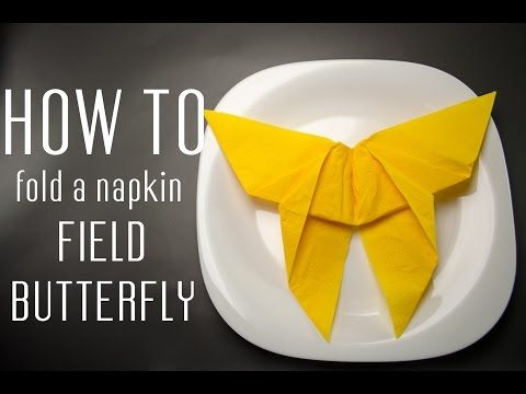 how to fold a napkin into a field butterfly napkin folding pinterest napkin folding. Black Bedroom Furniture Sets. Home Design Ideas
