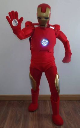 iron man mascot costume  www.firstchoicebouncycastlehire.co.uk