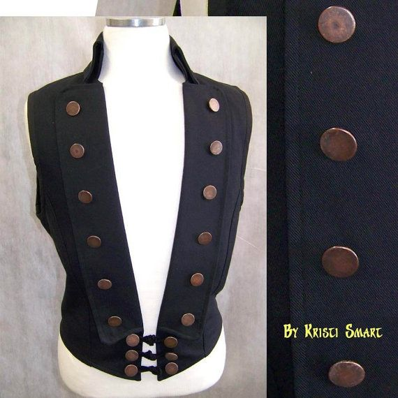 mens steampunk pirate vest by ManicManx on Etsy, $110.00