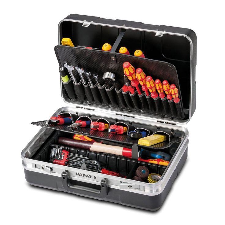 Parat Werkzeugkoffer 485.020-171 mit Einsteckfächern, schwarz (ohne Inhalt) in Heimwerker, Werkstattausrüstung, Werkzeugkoffer | eBay