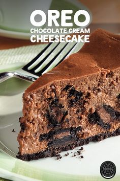 OREO cookies form the crust and enrich the chocolate filling of this decadent baked OREO Chocolate Cream Cheesecake.