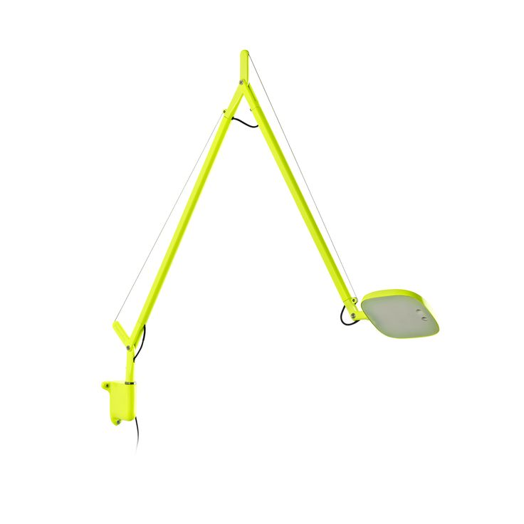Volée, design Odo Fioravanti, version in fluorescent yellow colour with wall support