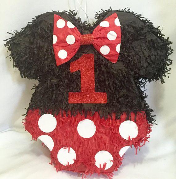 Primer cumpleaños negro & rojo mono de piñata por Theperfectpinata