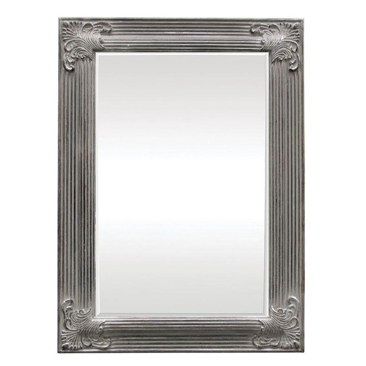 Temira Wooden Framed Mirror In Antique Silver 600x900