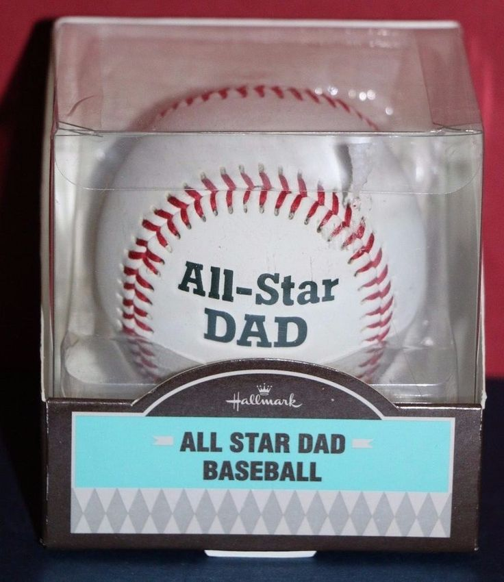 Hallmark All-Star Dad Autograph Baseball Birthday or Father's Day Gift NEW NIB