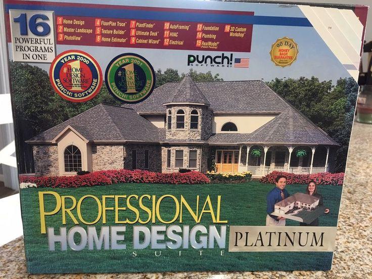 Details About Punch Software Professional Home Design Suite Platinum Pc Cd