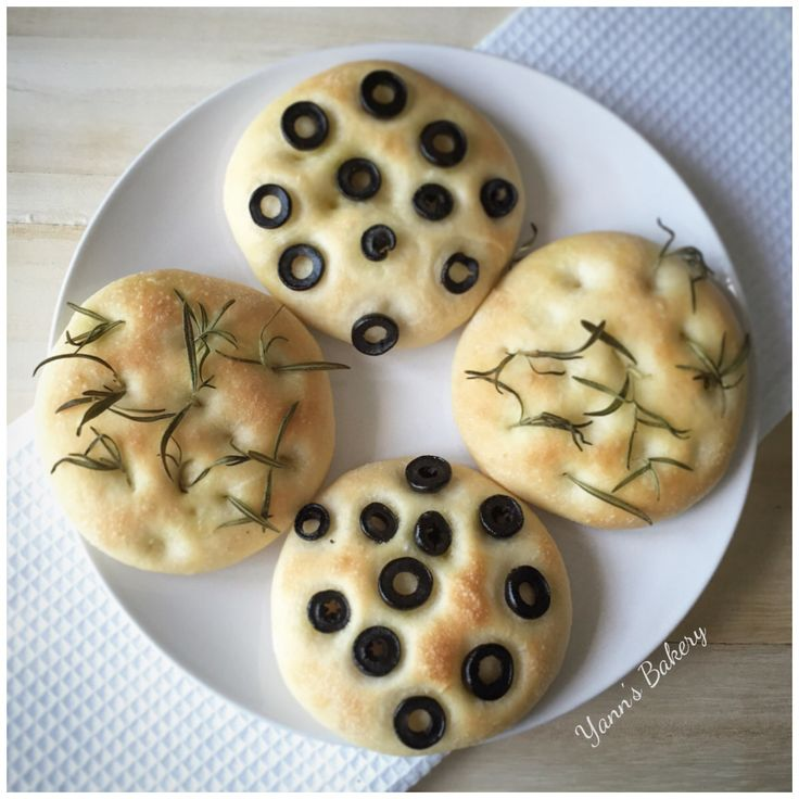 Homemade Rosemary & Black Olive Breads are done!