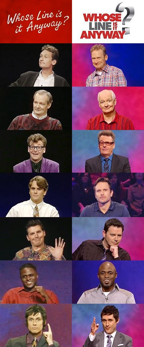 Whose Line Is It Anyway Cast Then and Now. The best program!