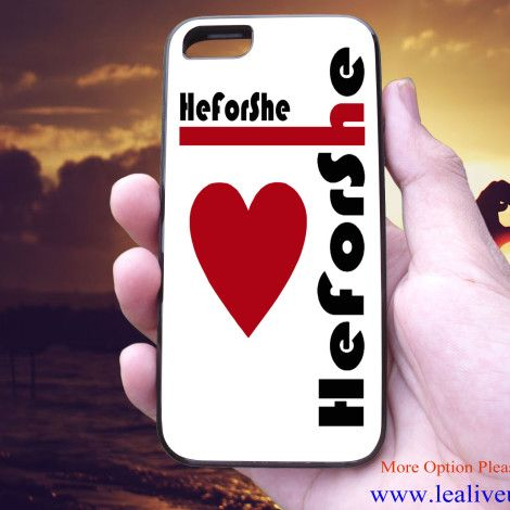 He For She white red heart Phone Case Back Cover for iPhone, iPod and Samsung Galaxy