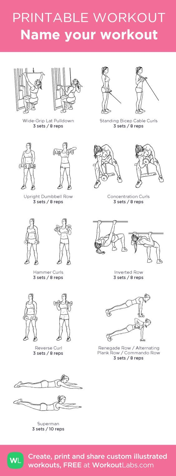 Bicep And Back Workout Female | sport1stfuture org