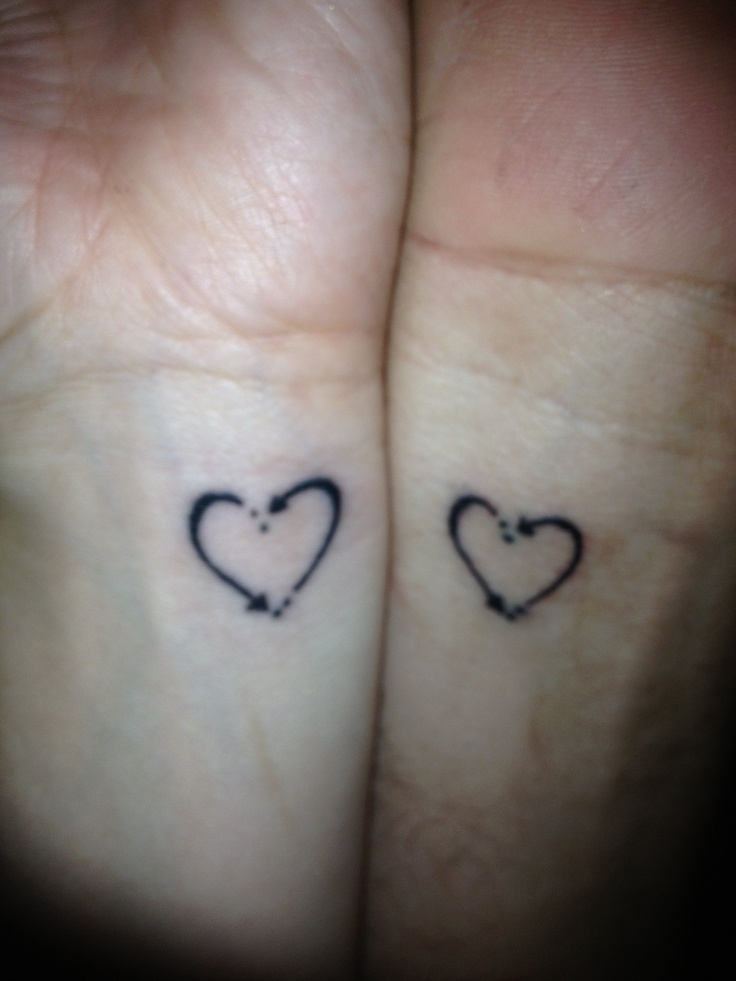 His and hers heart tattoo | Tats/wild makeup | Pinterest