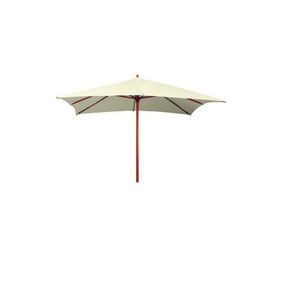 Ombrelloni 3x4 - Colore telo di copertura: ecrù lato mt. 4 x 3 - 8 raggi struttura in legno con carrucole palo diametro mm. 48 copertura poliestere gr. 160/mq