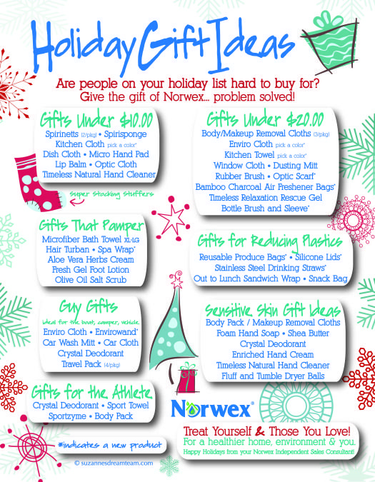 Norwex holiday gift ideas 2014 - to order www.jodidrake.norwex.biz