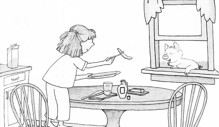 pigs in pajamas coloring pages   If You Give A Pig A Pancake Coloring Page   Pancakes ...