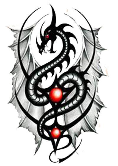 Tribal Dragon Tattoos | Return to Tattoo Show Time Homepage