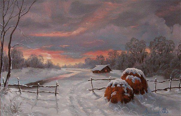 Зимние картины.Владимир Воробьев
