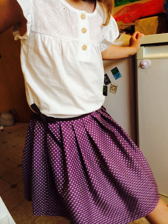 Fun pleated cotton skirt by RosebudandCassie on Etsy
