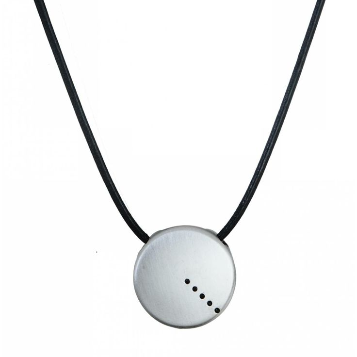 Man leather black glow necklace - Vanderly