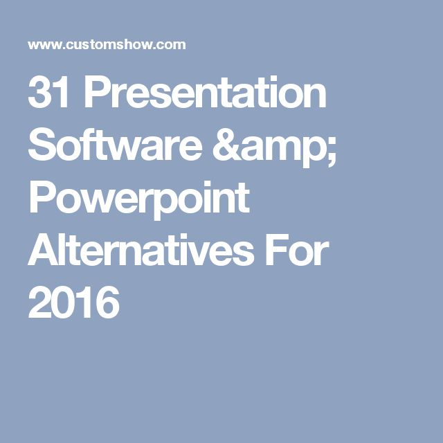 31 Presentation Software & Powerpoint Alternatives For 2016