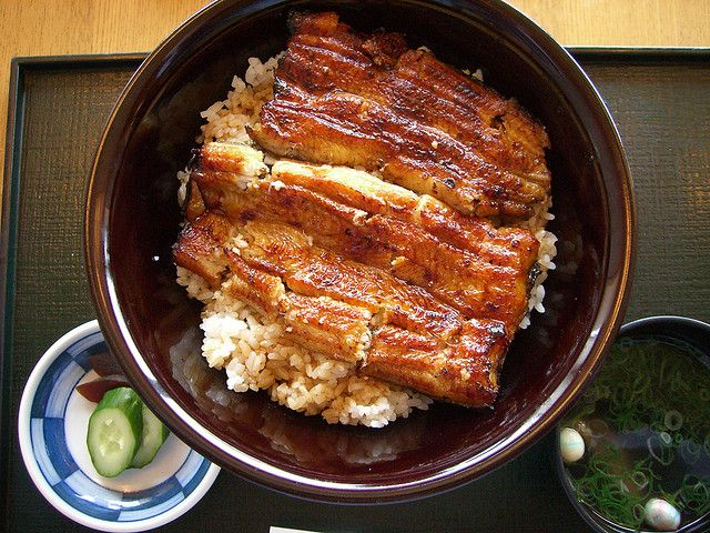 Unadon, Unagi Eel Donburi Rice Bowl, Japanese Food