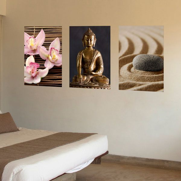 Brewster home fashions euro 3 piece zen panoramic wall decal set