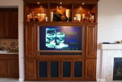 entertainment centers with fireplaces in them | ... entertainment center built into wall niche tv stand with fireplace