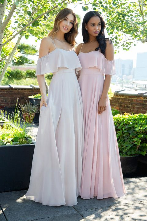Style 5854 Hayley Paige Occasions bridesmaids dress - Dusty Rose chiffon  A-line gown e70bbdd0c863