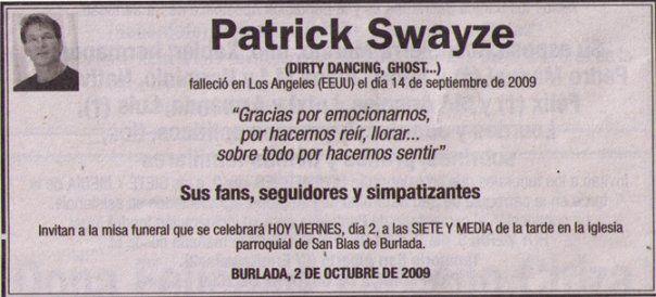 Patrick Swayze Funeral