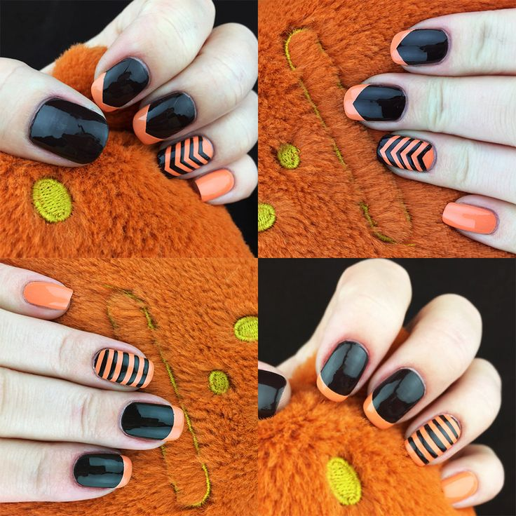 Simple Lines nail art vinyls incredible Chevron nail by Unail