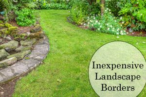 1000 ideas about landscape borders on pinterest for Cheap and easy flower bed borders