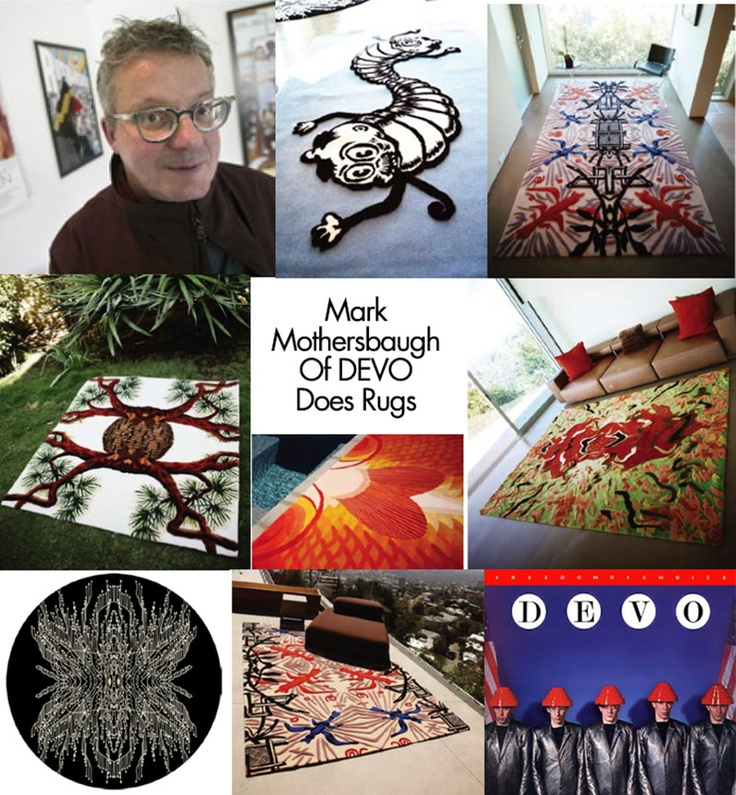 Are We Not Men? We Are Rug Designers. DEVOs Mark Mothersbaugh Does Rugs