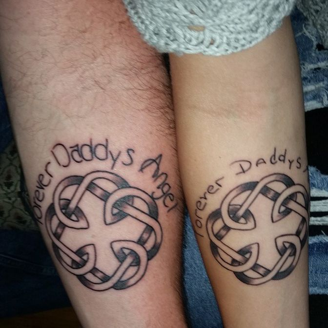 17 Totally Badass Matching Father And Daughter Tattoos Dinocroinfo