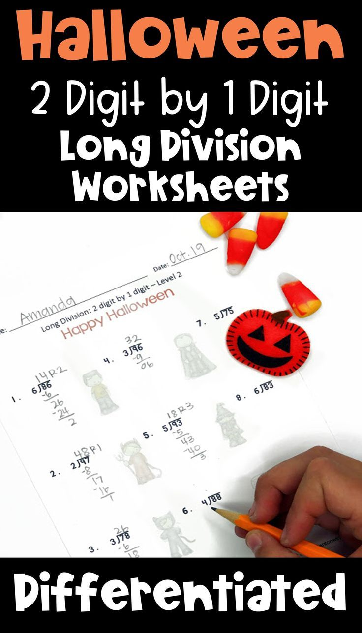 These Halloween 2 Digit By 1 Digit Long Division Worksheets Are Fun Practice For Your 4th Upper Elementary Math Division Worksheets Common Core Math Worksheets [ 1288 x 736 Pixel ]
