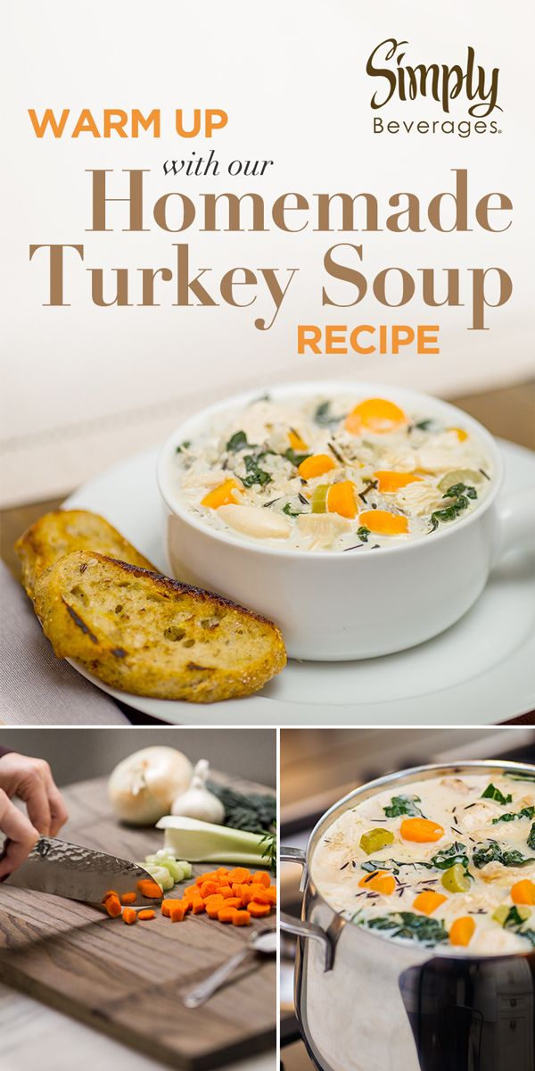 Turn the items you might have looked over into a delicious batch made up of Thanksgiving leftovers with our Homemade Turkey Soup recipe.